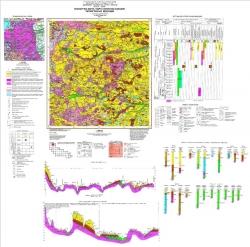 M-35-XI (Коростень). Геологическая карта и карта полезных ископаемых четвертичных образований. Серия Центральноукраинская