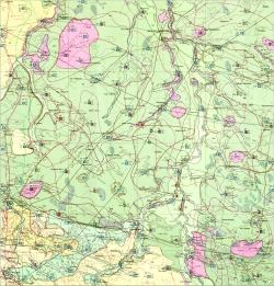 M-35-XVI (Новоград-Волынский). Гидрогеологическая карта СССР. Серия Центральноукраинская