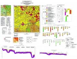 M-35-XVII (Житомир). Геологическая карта и карта полезных ископаемых четвертичных образований. Серия Центральноукраинская