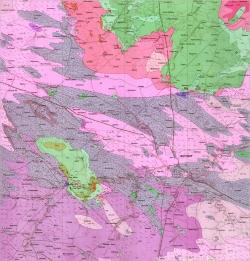 M-35-XVII (Житомир). Геологическая карта СССР. Серия Центральноукраинская. Карта поверхности домезозойских образований