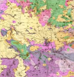 M-35-XVII (Житомир). Геологическая карта СССР. Серия Центральноукраинская. Карта полезных ископаемых