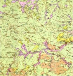 M-35-XVII (Житомир). Гидрогеологическая карта СССР. Серия Центральноукраинская