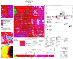 M-35-XVIII (Фастов). Геологическая карта и карта полезных ископаемых кристаллического фундамента. Серия Центральноукраинская