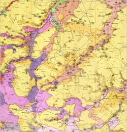 M-35-XVIII (Фастов). Геологическая карта СССР. Серия Центральноукраинская. Карта полезных ископаемых