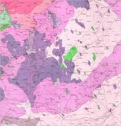 M-35-XVIII (Фастов). Геологическая карта СССР. Серия Центральноукраинская. Карта поверхности домезозойских образований