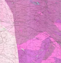 M-35-XXII (Староконстантиновка). Геологическая карта СССР. Серия Центральноукраинская. Карта поверхности домезозойских образований