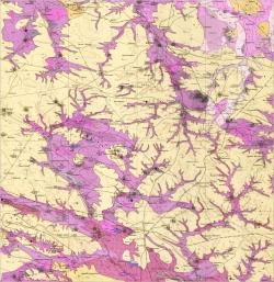 M-35-XXIII (Бердичевск). Геологическая карта СССР. Серия Центральноукраинская. Карта полезных ископаемых