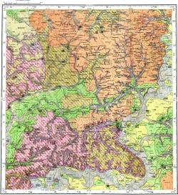 M-36-V. Геологическая карта СССР. Карта четвертичных отложений. Серия Брянско-Воронежская