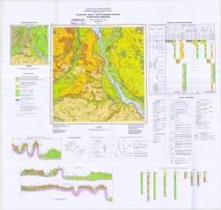 M-36-XIII (Киев). Геологическая карта и карта полезных ископаемых четвертичных отложений (Днепровско-Донецкая серия)