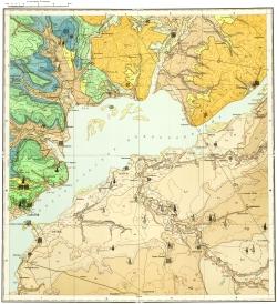 M-38-V. Карта полезных ископаемых СССР. Серия Средневолжская