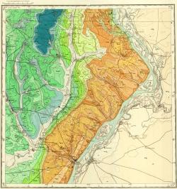 M-38-XVI. Геологическая карта СССР. Серия Нижневолжская