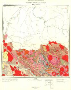 M-44-Б (Лениногорск). Геологическая карта Казахской ССР