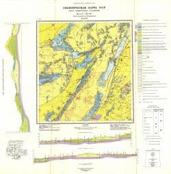 M-44-III. Геологическая карта СССР. Карта четвертичных отложений. Серия Кулундинско-Барабинская