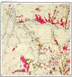 M-44-X. Карта четвертичных отложений СССР. Серия Алтайская