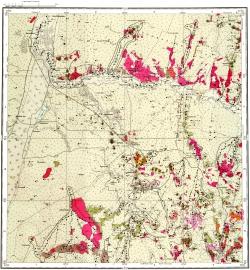 M-44-X. Карта полезных ископаемых СССР. Серия Алтайская