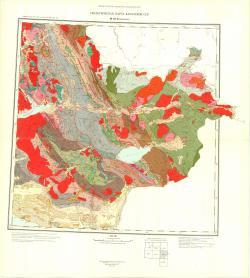 M-45-В (Зыряновск). Геологическая карта Казахской ССР