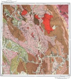 M-45-VIII. Карта полезных ископаемых СССР. Алтайская серия