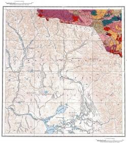 M-47-IV. Геологическая карта СССР. Восточно-Саянская серия