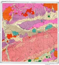 M-48-XII. Геологическая карта СССР. Западно-Забайкальская серия