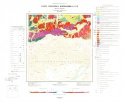 M-48-XVI. Карта полезных ископаемых. Серия Западно-Забайкальская