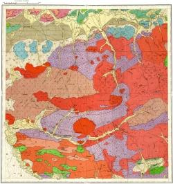 M-48-XVIII. Геологическая карта СССР. Западно-Забайкальская серия