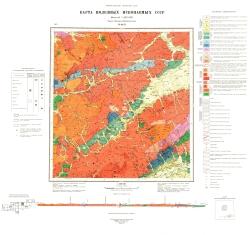 M-49-II. Карта полезных ископаемых. Серия Западно-Забайкальская