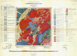 M-49-VI. Геологическая карта СССР. Серия Восточно-Забайкальская
