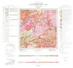 M-49-XVI. Геологическая карта СССР. Восточно-Забайкальская серия.