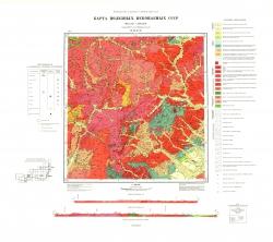 M-49-XVII. Карта полезных ископаемых СССР. Серия Восточно-Забайкальская