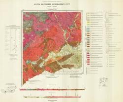 M-49-XXII,XXVIII. Карта полезных ископаемых СССР. Серия Восточно-Забайкальская