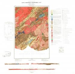 M-49-XXI,XXVII. Карта полезных ископаемых СССР. Серия Восточно-Забайкальская