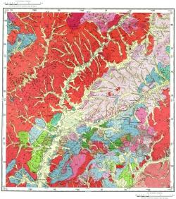 M-50-V. Геологическая карта СССР. Серия Восточно-Забайкальская