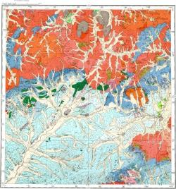 M-50-X (Александровский Завод). Геологическая карта СССР. Восточно-Забайкальская серия