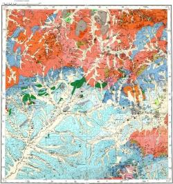 M-50-X (Александровский Завод). Карта полезных ископаемых СССР. Восточно-Забайкальская серия