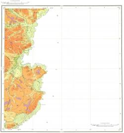 M-50-XVIII. Геологическая карта Российской Федерации. Карта четвертичных отложений. Приаргунская серия