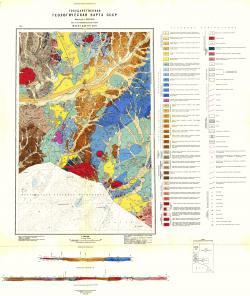 M-50-XV,XXI (Борзя, Даурия). Государственная геологическая карта СССР. Восточно-Забайкальская серия