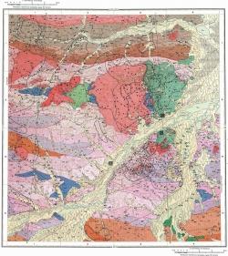 M-53-IV. Геологическая карта СССР. Карта полезных ископаемых. Хингано-Буреинская серия