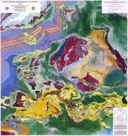Международная тектоническая карта Европы. Третье издание.