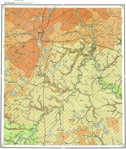 N-36-XI. Карта четвертичных отложений СССР. Московская серия