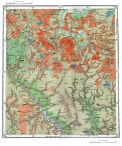 N-36-XVI. Геологическая карта СССР. Карта четвертичных отложений. Московская серия