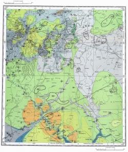 N-36-XVI. Геологическая карта СССР. Карта полезных ископаемых. Московская серия
