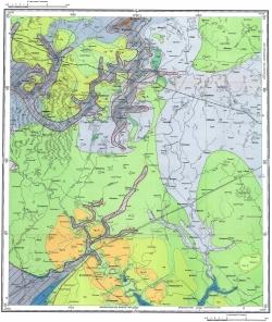 N-36-XVI. Геологическая карта СССР. Московская серия