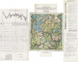 N-36-XVIII (Сухиничи). Государственная гидрогеологическая карта СССР. Первые от поверхности водоносные горизонты. Московская серия
