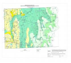 N-37-XXX; N-38-XXV (бассейн верхнего течения р.Цна). Гидрогеологическая карта. Лист 2 (гидрогеологические подразделения дочетвертичных отложений)