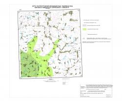 N-37-XXXVI. Карта распространения некондиционных подземных вод Уваровско-Тамбовского терригенного горизонта