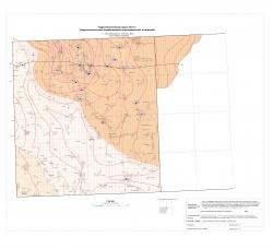N-37-XXXVI; N-38-XXXI (бассейн верхнего течения р.Цна). Гидрогеологическая карта. Лист 3 (гидрогеологические подразделения верхнедевонских отложений)