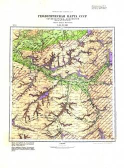 N-38-XXXIII. Геологическая карта СССР. Карта четвертичных отложений. Серия Средне-Волжская