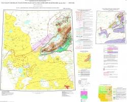 N-44 (Новосибирск). Государственная геологическая карта Российской Федерации. Третье поколение. Алтае-Саянская серия. Карта закономерностей размещения и прогноза полезных ископаемых