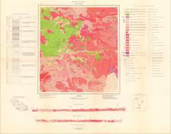 N-47-XXXIII. Геологическая карта. Серия Восточно-Саянская. Государственная геологическая карта СССР.