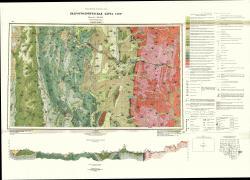 N-48-VI; N-49-I. Гидрогеологическая карта СССР. Ангаро-Ленская серия
